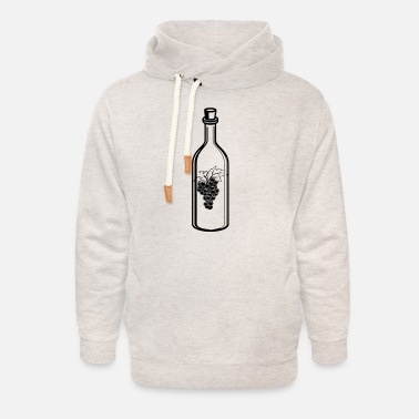 Wine Glasses Wine wine glass - Unisex Shawl Collar Hoodie