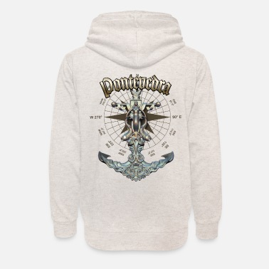 Pontevedra Anchor Nautical Sailing Boat Summer - Unisex Shawl Collar Hoodie