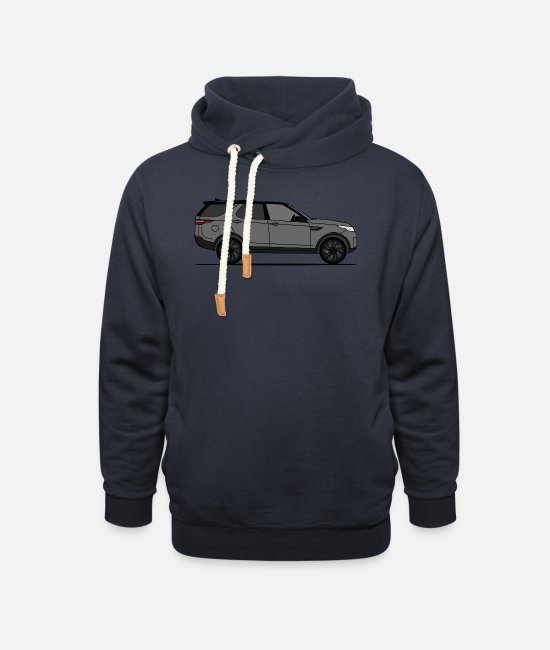 Offroad Vehicles Hoodies & Sweatshirts - Discovery 5 Gray - Unisex Shawl Collar Hoodie navy