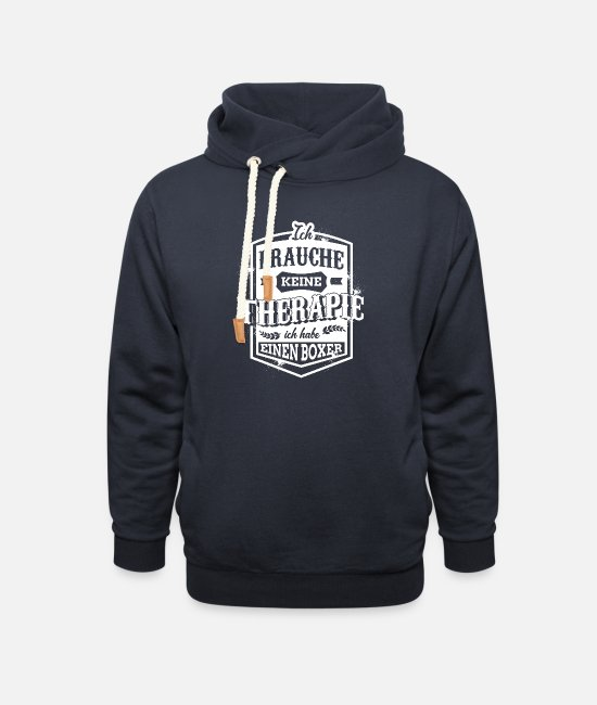 Companion Dog Hoodies & Sweatshirts - I do not need therapy I have a boxer - Unisex Shawl Collar Hoodie navy