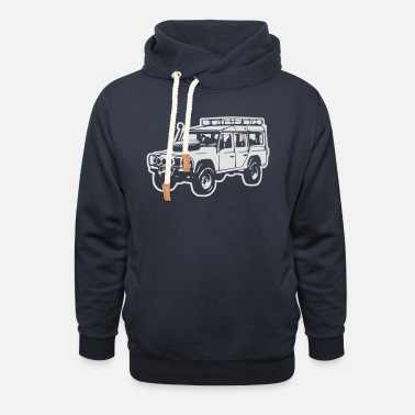 Land Rover Defender Land Rover Defender, Jeep, SUV - Unisex Shawl Collar Hoodie