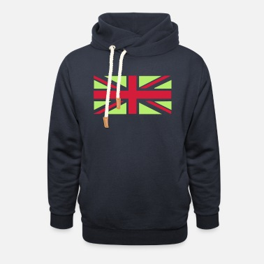 Union Jack - Great Britain - Union flag, versatile - Unisex Shawl Collar Hoodie