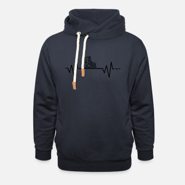 Sport Heartbeat Ice Skating Figure Skating Gift - Unisex Shawl Collar Hoodie