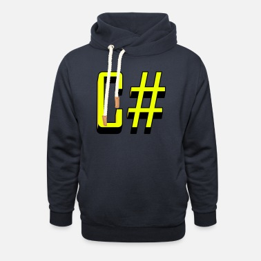 C Sharp Programming Languages: C# / C sharp (Classic) - Unisex Shawl Collar Hoodie