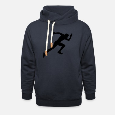 Sprinting Runner, sports, racing sprint, - Unisex Shawl Collar Hoodie