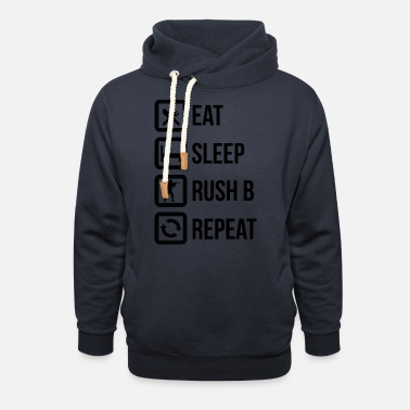 Counter Strike Eat sleep rush bee - Shawl Collar Hoodie