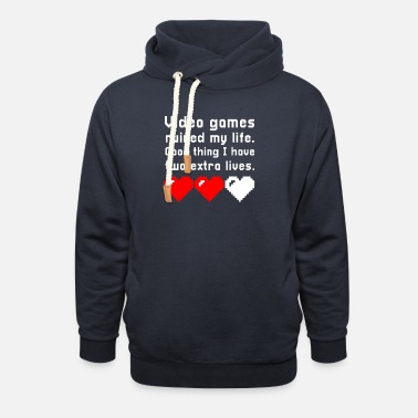 video games console gamer gaming gamers gamble - Unisex Shawl Collar Hoodie