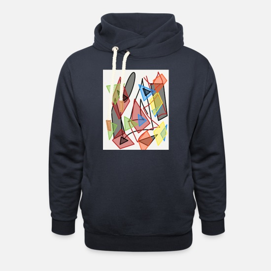 Wealth Hoodies & Sweatshirts - idea - Unisex Shawl Collar Hoodie navy