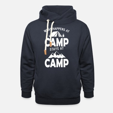 Campsite What happens at the campsite stays on the campsite - Unisex Shawl Collar Hoodie