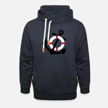 Life Saver Anchor and Life Saver - Unisex Shawl Collar Hoodie