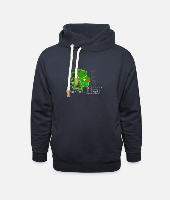 Lucky Hoodies & Sweatshirts - St Patricks day pro gamer not luck just skill - Unisex Shawl Collar Hoodie navy