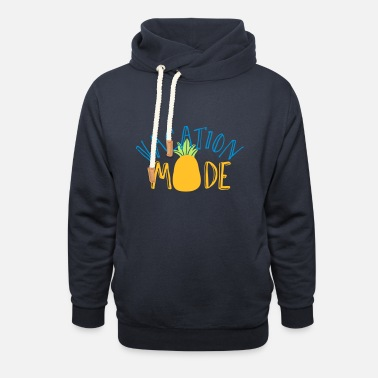holiday relax vacation pineapple foreign party - Unisex Shawl Collar Hoodie
