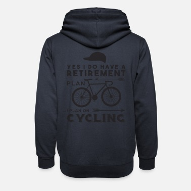 Ride Bike Funny cyclist sayings - Unisex Shawl Collar Hoodie