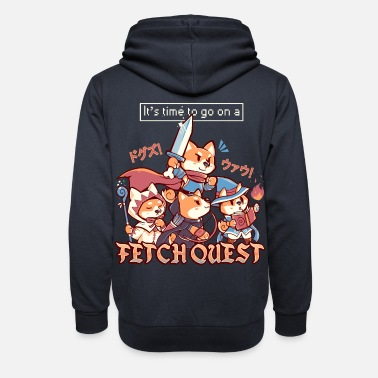Its Time to go on a Fetch Quest - Unisex Shawl Collar Hoodie