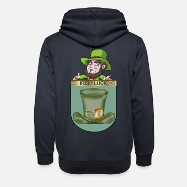 Belfast St Patricks Day Irish Luck Pocket - Unisex Shawl Collar Hoodie
