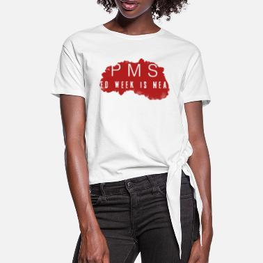 Pms PMS Collection - T-shirt med knut dam