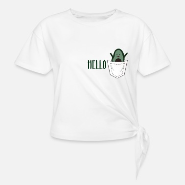 hello avocado in a pocket - Knotenshirt