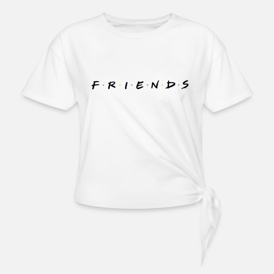 Film T-Shirts - Friends Logo - Knotenshirt Weiß