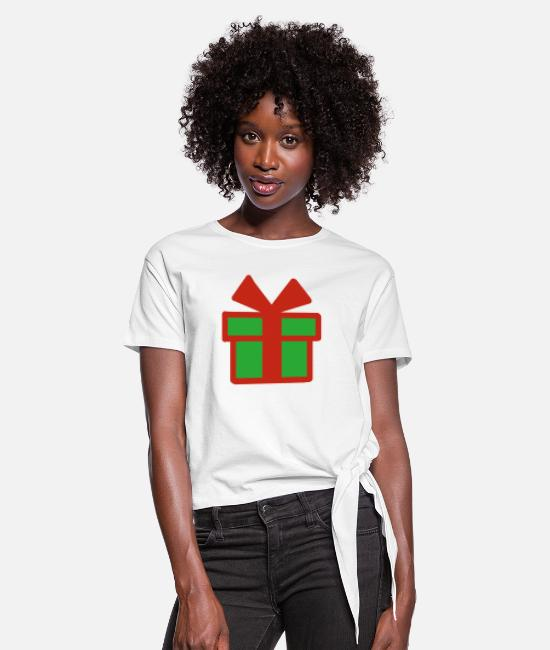 Christmas Lover T-Shirts - Christmas present Christmas present gifts - Women's Knotted T-Shirt white