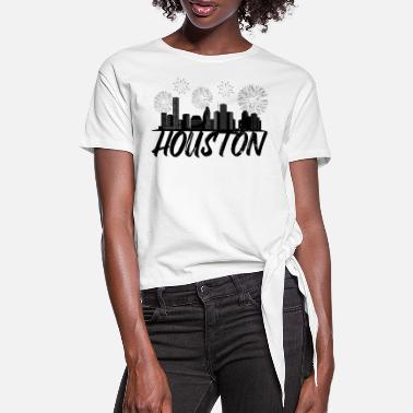The Golden State Yellow Rose of Texas Houston City - Women's Knotted T-Shirt