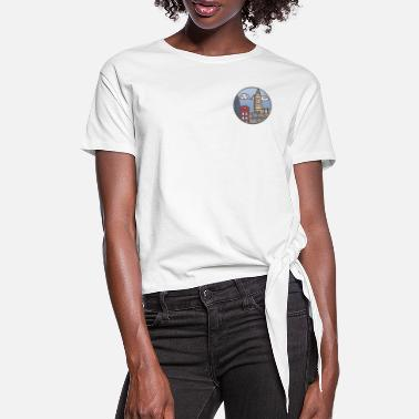 Icon London Illustration - Icon - Frauen Knotenshirt