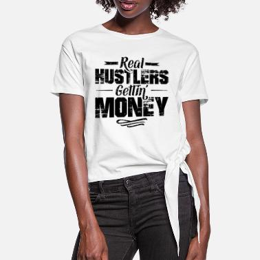 Hustle Hustle Hip Hop Rap Spruch Money - Frauen Knotenshirt