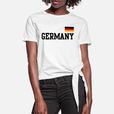Germany Flag Germany flag - Germany Germany flag flag - Women's Knotted T-Shirt