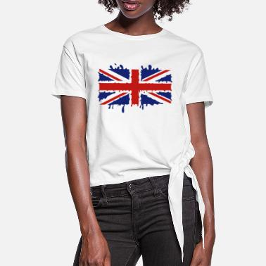 Jack Dripping Union Jack - Women's Knotted T-Shirt