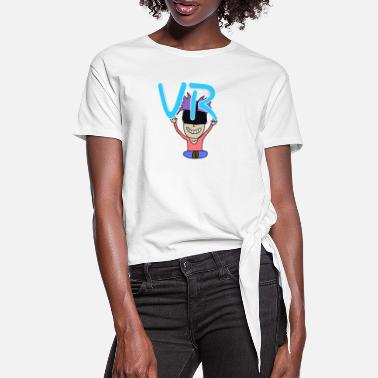 Vr VR HANDS HIGH with VR GLASSES - Women's Knotted T-Shirt