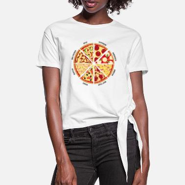Chilli Pepper Pizza - Women's Knotted T-Shirt
