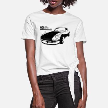 Touge black for - Women's Knotted T-Shirt