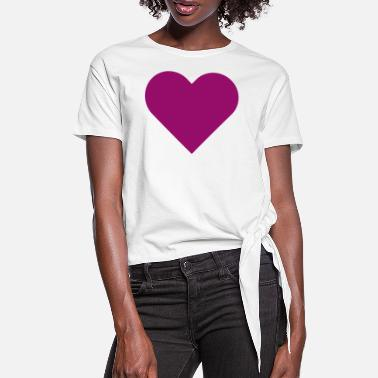 Farewell Party HEART purple - Women's Knotted T-Shirt