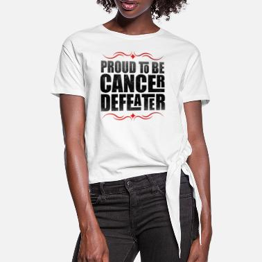 Lutte Pride Cancer Besieger Fighter Combat Brave - T-shirt à nœud Femme