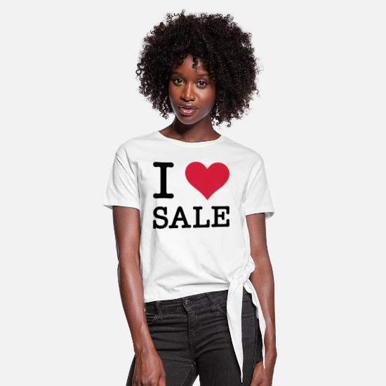 Love T-shirts - I Love Sale - Dame knot-shirt hvid