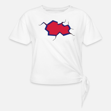 Fall Of The Wall Hole in the wall. Breast breaks. - Knotted T-Shirt