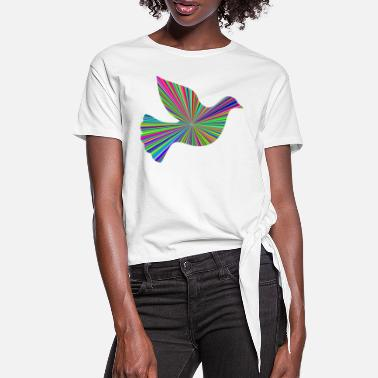 Sunburst Peace Dove Sunburst - T-shirt à nœud Femme
