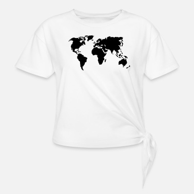 world map - Knotted T-Shirt
