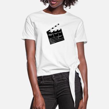 Date Clapperboard - Women's Knotted T-Shirt