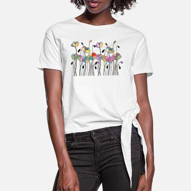 Leaf flowers - Women's Knotted T-Shirt
