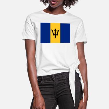 Flag of Barbados. - Women's Knotted T-Shirt