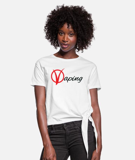 Hipster T-Shirts - vaping - Women's Knotted T-Shirt white