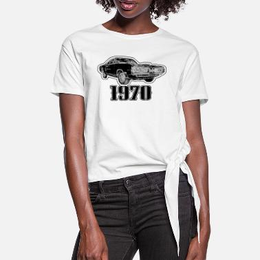 Us 1970 US Car - Frauen Knotenshirt