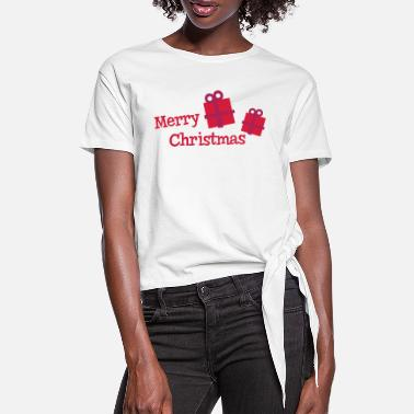 Merry Xmas merry xmas - Women's Knotted T-Shirt