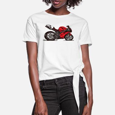 996 Superbike comic-style - Women's Knotted T-Shirt