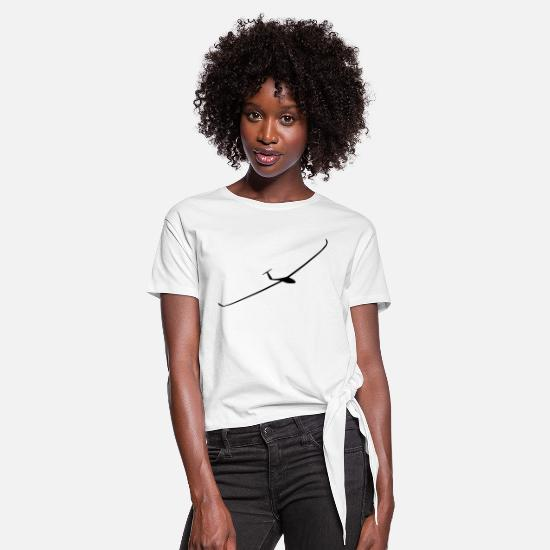 Fly T-Shirts - Ventus 2c - Women's Knotted T-Shirt white