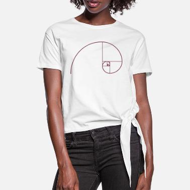 Golden Ratio Golden Spiral, Golden Ratio, Phi, Fibonacci - Women's Knotted T-Shirt