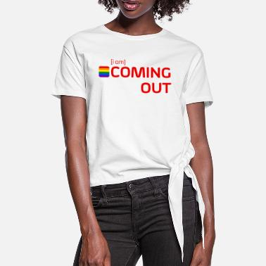 Coming Out [i am] COMING OUT - Frauen Knotenshirt