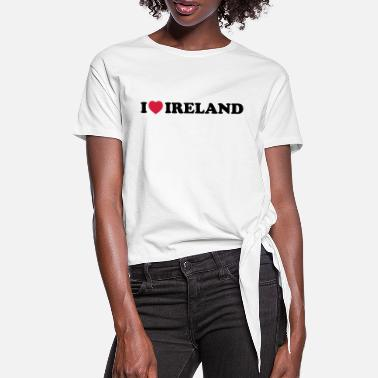 I Love Ireland I love Ireland - Women's Knotted T-Shirt