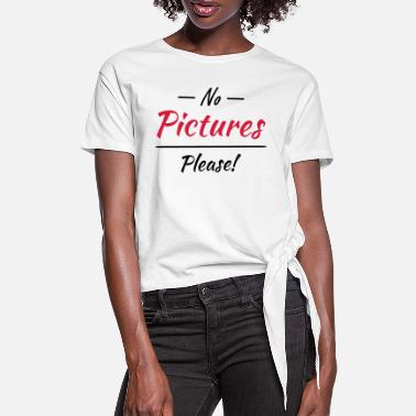 Picture No pictures please! - T-shirt med knut dam