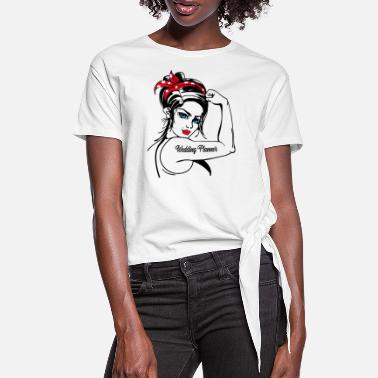 Minimalistisch Weddingplanner Rosie The Riveter - Vrouwen Geknoopt shirt